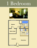 A sample of one of the floor plans created by GigaShock for the Belle Verde Apartments website.