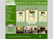 The floor plans page for the Belle Verde Apartments website. Hovering over a specific unit type will zoom in and increase the size of the thumbnail.