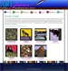 An example of a page displaying information about a specific artist and a list of their work.