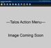 Talos - Each available interface can be controlled via actions and controls from a right-click context menu. Actions are executed via Ajax allowing action queuing and accurate visual feedback.