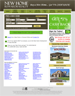 The home page of the website. The search box at the top will allow the site visitor to search for a property that matches specific search criteria. The links at the bottom allow the visitor to find listings for properties in specific cities or who were developed by a specific home builder.
