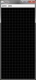 A blank game board with gridlines turned on.