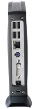 An example of the back side of an IGEL UD2 thin client.
